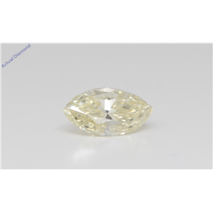 Marquise Cut Loose Diamond (1 Ct,Natural Fancy Light Yellow Color,Si2 Clarity) Gia Certified
