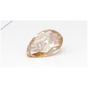 Pear Cut Loose Diamond (1.53 Ct,Natural Fancy Brown Yellow Color,I1 Clarity) Gia Certified