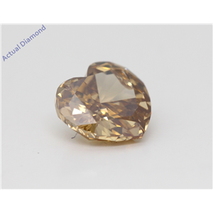 Heart Cut Loose Diamond (1.82 Ct,Natural Fancy Brown Yellow Color,Si3 Clarity) Gia Certified