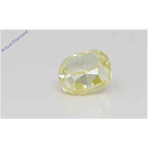 Cushion Cut Loose Diamond (0.51 Ct,Natural Fancy Greenish Color,Vs2 Clarity) GIA Certified