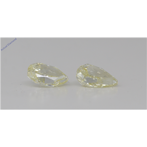 A Pair Of Pear Cut Loose Diamonds (2.18 Ct,Natural Fancy Light Yellow Color,Vs2 Clarity) Gia Certified
