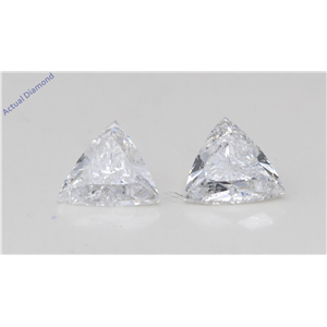 A Pair Of Triangle Cut Loose Diamonds (1.68 Ct,D-E Color,Si2 Clarity) Gia Certified