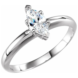 Marquise Diamond Solitaire Engagement Ring,14k White Gold (0.99 Ct,D Color,VS2 Clarity) GIA Certified