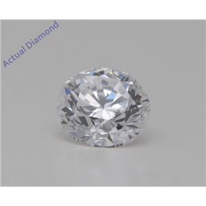 Round Cut Loose Diamond (0.3 Ct,D Color,VVS1 Clarity) GIA Certified