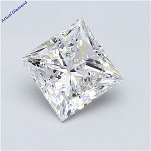 Princess Cut Loose Diamond (0.9 Ct,F Color,Si1 Clarity) Gia Certified
