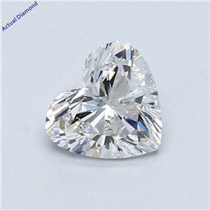 Heart Cut Loose Diamond (0.79 Ct,E Color,Si1 Clarity) Gia Certified