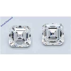 A Pair Of Asscher Cut Loose Diamonds (2.62 Ct,D Color,Vs1-Vs2 Clarity) Gia Certified