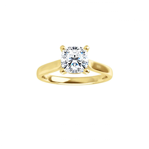 Cushion Diamond Solitaire Engagement Ring,14K Yellow Gold (1.71 Ct,F Color,Vs1 Clarity) Gia Certified