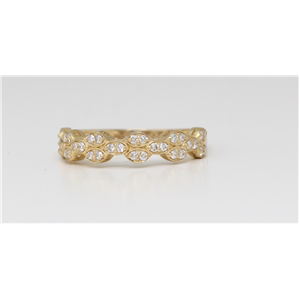 14K Yellow Gold Round Diamond Multi-Stone Prong Set Half-Eternity Ring (0.3 Ct,D-F Color,Vs-Si Clarity)