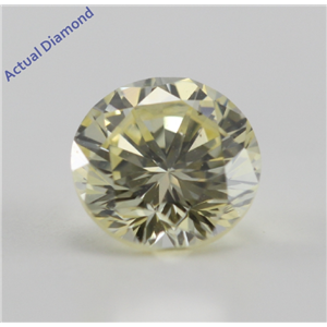 Round Cut Loose Diamond (0.57 Ct, Natural Fancy Yellow, VS2) IGL Certified