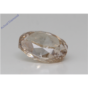 Oval Cut Loose Diamond (3.27 Ct,Fancy Light Yellowish Brown Color,Si2 Clarity) Gia Certified