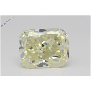 Cushion Cut Loose Diamond (3.07 Ct,W-X Yellow Color,Vs2 Clarity) Gia Certified