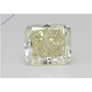 Radiant Cut Loose Diamond (2.95 Ct,W-X Yellow Color,Vs1 Clarity) Gia Certified