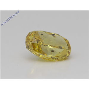 Oval Cut Loose Diamond (2.41 Ct,Fancy Vivid Yellow Color,Si3 Clarity) Gia Certified