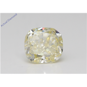 Cushion Cut Loose Diamond (1.17 Ct,Fancy Yellow Color,Si1 Clarity) Gia Certified
