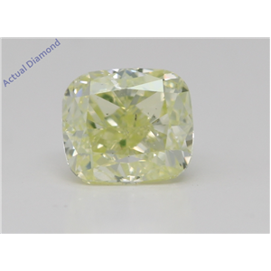 Cushion Cut Loose Diamond (1.03 Ct,Fancy Green Yellow Color,Si2 Clarity) Gia Certified