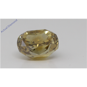 Oval Cut Loose Diamond (1.01 Ct,Fancy Brownish Greenish Yellow Color,Si2 Clarity) Gia Certified