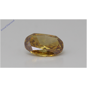 Oval Cut Loose Diamond (0.81 Ct,Fancy Orangy Yellow Color,Si2 Clarity) Gia Certified