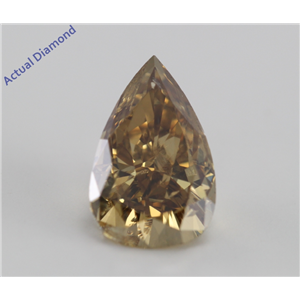 Pear Cut Loose Diamond (1.64 Ct, Natural Orange Brown, I1)