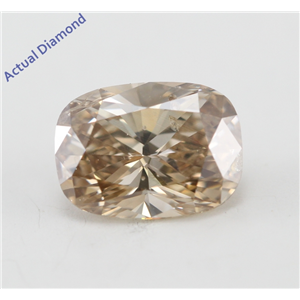Oval Cut Loose Diamond (0.73 Ct, Natural Fancy Brown Color, SI2 Clarity) IGL Certified