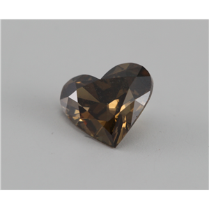 Heart Cut Loose Diamond (0.52 Ct, Natural Deep Orange Cognac, VVS)