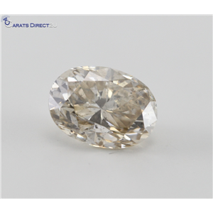 Oval Cut Loose Diamond (1.32 Ct, Natural Light Brown, I1)