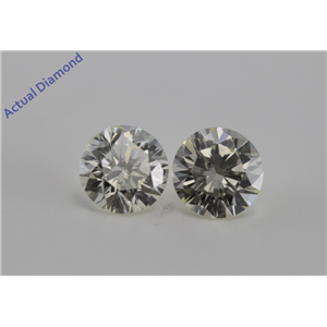 A Pair of Round Cut Loose Diamonds (1.41 Ct, L ,VS2-SI1)