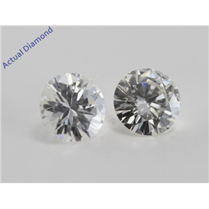 A Pair of Round Cut Loose Diamonds (0.99 Ct, I ,VS2)
