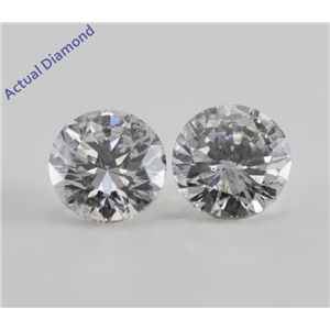 A Pair of Round Cut Loose Diamonds (2.06 Ct, F-G ,I1-SI3)