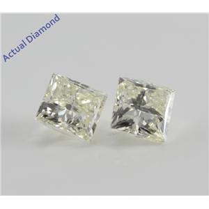 A Pair of Princess Cut Loose Diamonds (2.01 Ct, K ,VS2-SI2)