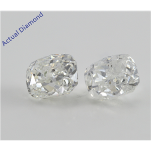A Pair of Cushion Cut Loose Diamonds (3.26 Ct, G-H ,I1)