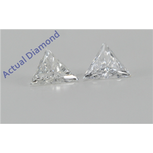 A Pair of Triangle Cut Loose Diamonds (0.24 Ct, F Color, SI2 Clarity)
