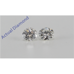 A Pair of Round Cut Loose Diamonds (0.14 Ct, G Color, VS1-VS2 Clarity)