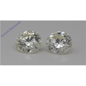 A Pair of Round Cut Loose Diamonds 1.6 Ct,L Color,VS2 Clarity
