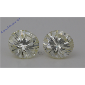 A Pair of Round Cut Loose Diamonds 1.41 Ct,L Color,VS2 Clarity