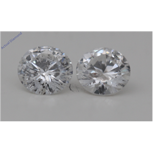 A Pair of Round Cut Loose Diamonds 0.56 Ct,G Color,I1 Clarity