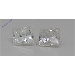 A Pair of Princess Cut Loose Diamonds 0.7 Ct,I Color,SI2 Clarity