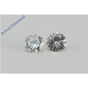 A Pair of Round Cut Loose Diamonds (0.55 Ct, I Color, SI1 Clarity)