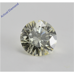 Round Cut Loose Diamond (0.56 Ct, Yellow U-V  ,VVS2) GIA Certified