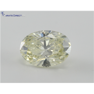 Oval Cut Loose Diamond (1.97 Ct, Yellow W-X, VS2) GIA Certified
