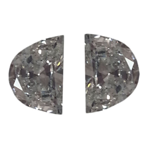 A Pair of Half Moon Cut Loose Diamonds (0.61 Ct, F-G ,VS2-SI1)