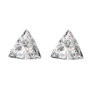A Pair of Triangle Cut Loose Diamonds (0.98 Ct, H-I ,SI2-SI3)