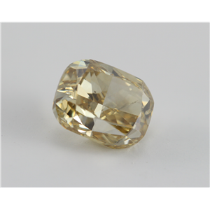 Cushion Cut Loose Diamond (1.67 Ct, Natural Fancy Brownish Yellow, VS1) IGL Certified