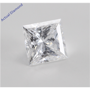 Princess Cut Loose Diamond (0.66 Ct, D, SI1(Laser Drilled)) GIA Certified