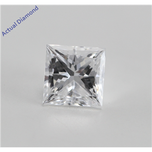 Princess Cut Loose Diamond (0.48 Ct, D, SI1) GIA Certified
