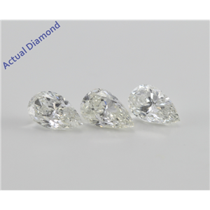 3 matching  Pear Cut Loose Diamonds (2.18 Ct, F-G, SI2-SI3)