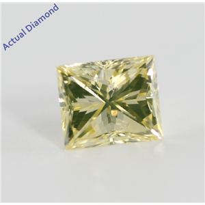 Princess Cut Loose Diamond (0.82 Ct, Natural Fancy Yellow Color, SI1 Clarity) IGL Certified