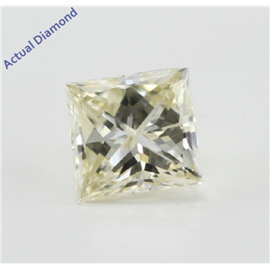 Princess Cut Loose Diamond (0.66 Ct, Natural Fancy Yellow Color, VVS2 Clarity) IGL Certified