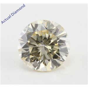 Round Cut Loose Diamond (1 Ct, Natural Light Fancy Brown Color, SI2 Clarity) IGL Certified