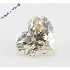 Heart Cut Loose Diamond (1.06 Ct, Natural Fancy Champagne Color, SI1 Clarity) IGL Certified